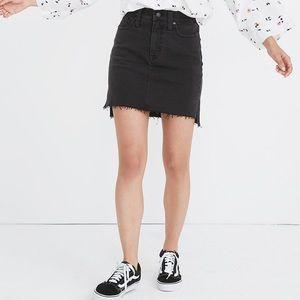 Madewell Denim Straight Mini Skirt - Step-Hem